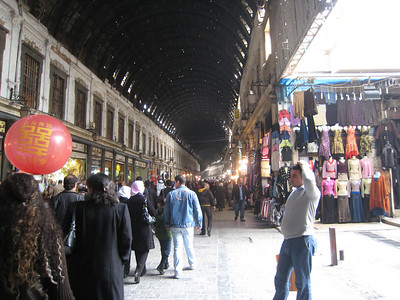 In the main covered part of Souq Hamadiyye in Damascus