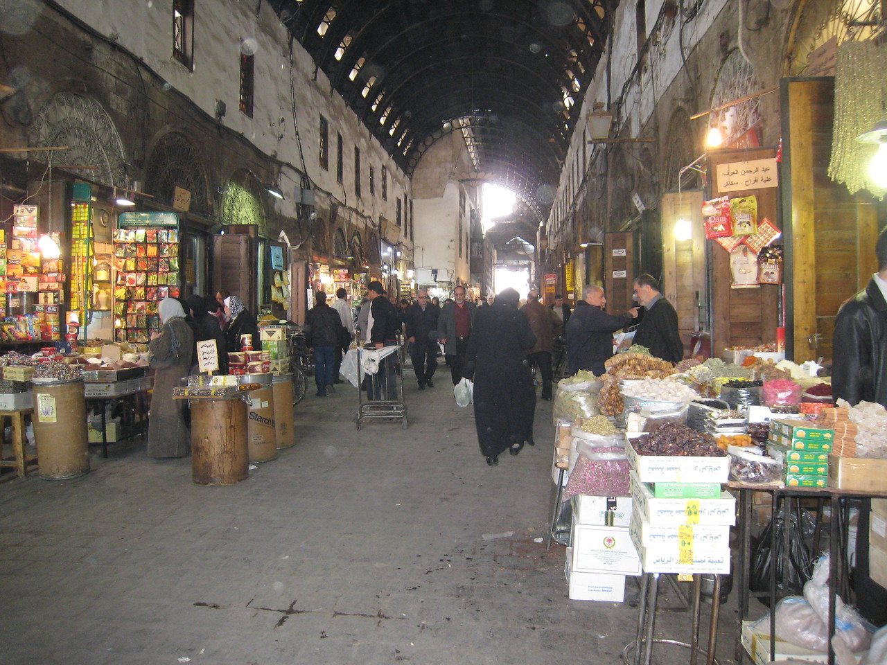 The spice souq in Damascus.