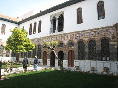 Inside the courtyard of the Culture Palace.