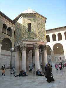 The treasury in the courtyard of Umayyed Mosque