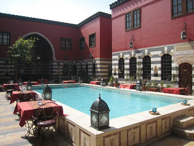 The central courtyard in the Talisman Hotel, highly recommended.