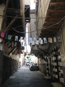 Lane in Damascus near our hotel - this is definitely a one way street!