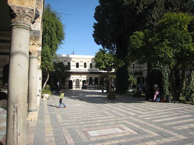 The courtyard of Azem Palace, built in the 18th century and once the home of Assad Pasha al-Azem, Ottoman (Turkish) governor of Damascus for 14 years