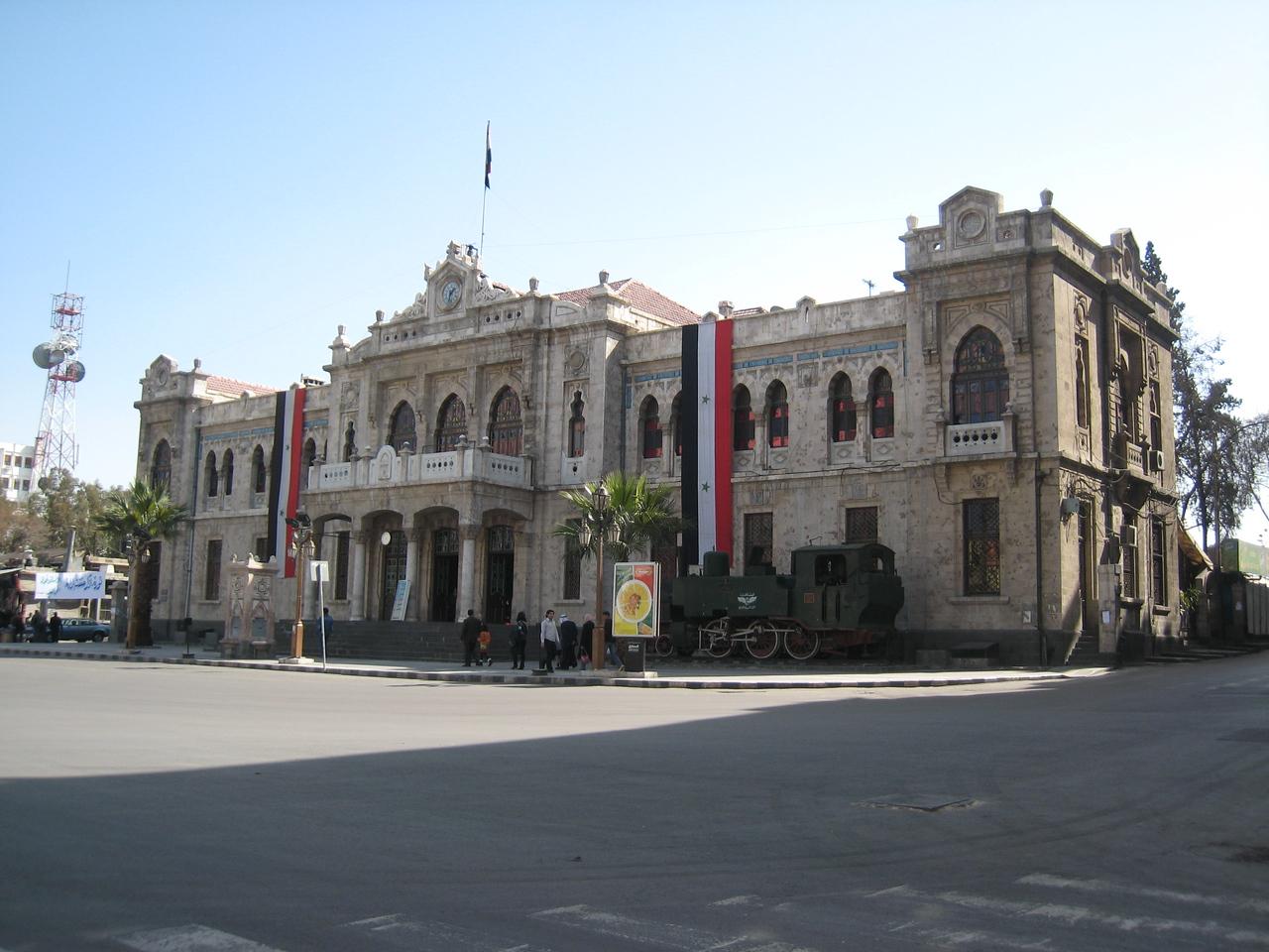 Hejaz railway station, currently under restoration.