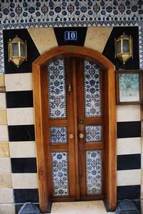 Tiled doorway in the Christian Quarter of Damascus.