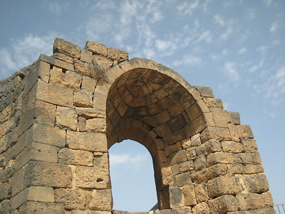 The cathedral at Bosra, open to the sky.