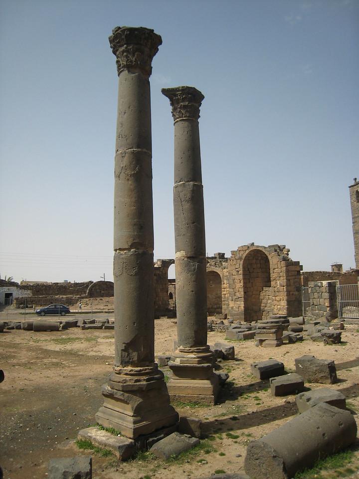 Roman columns.