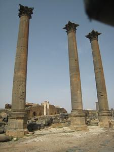 Roman columns in Bosra