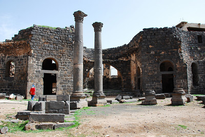 Inside the remains of the cathedral.