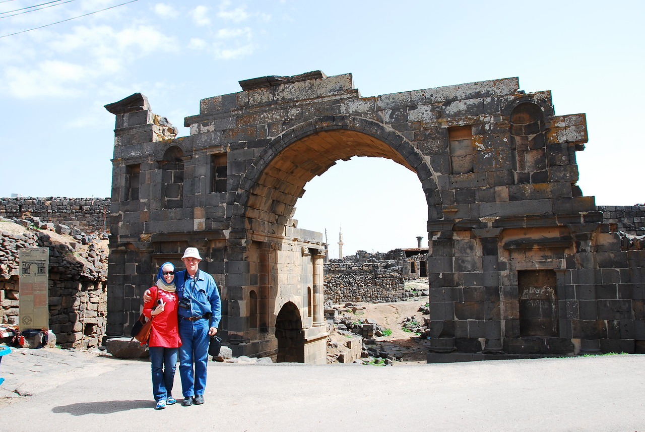 At the Nabatean Gate.  The Nabateans were the original builders of the town of Bosra and were the people who constructed Petra in Jordan.  The Nabateans ruled this area until it was conquered by the Roman emporer Trajan.