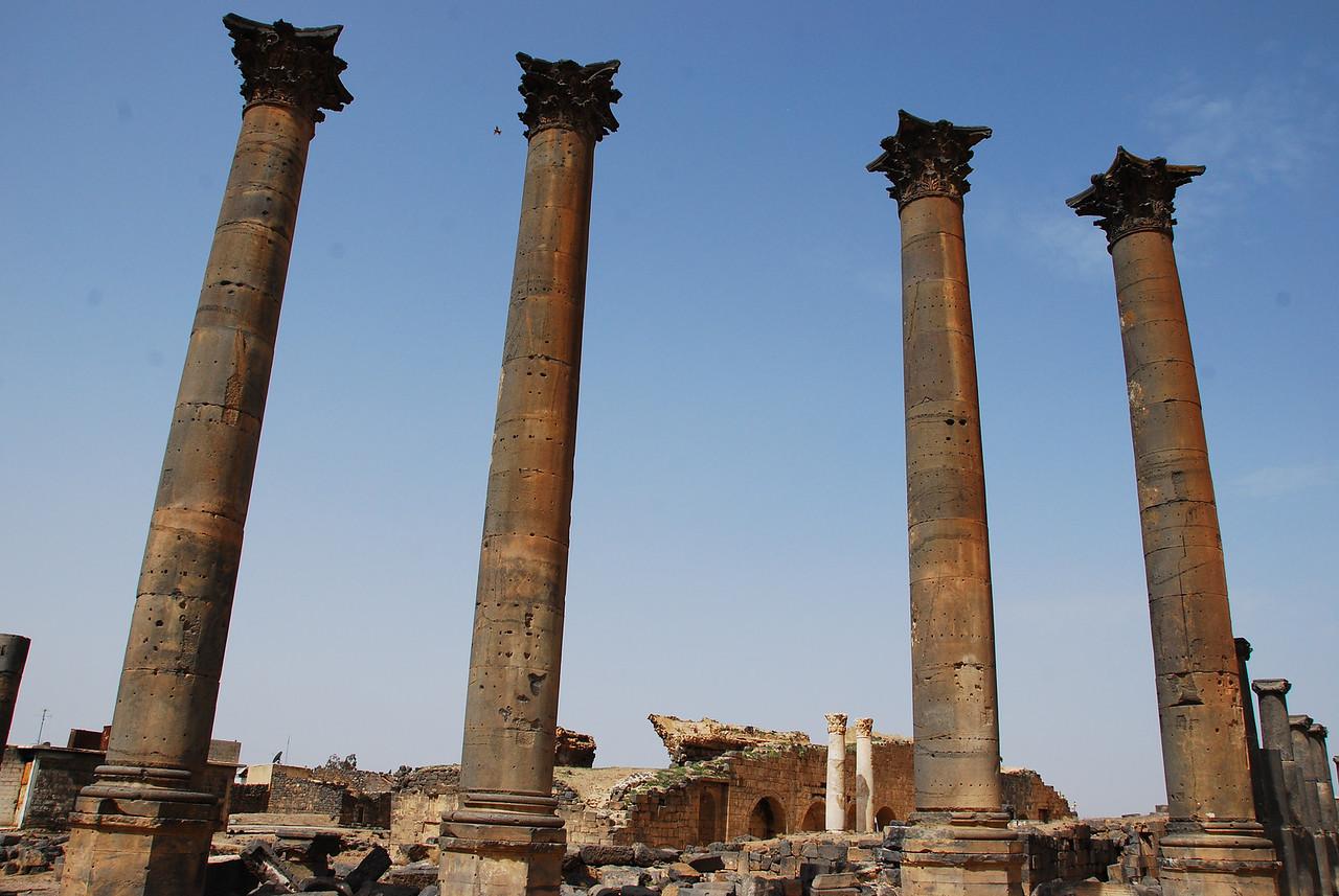 Roman columns at Bosra.