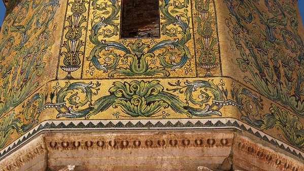Umayyad Mosque, Damascus. Detail of mosaic