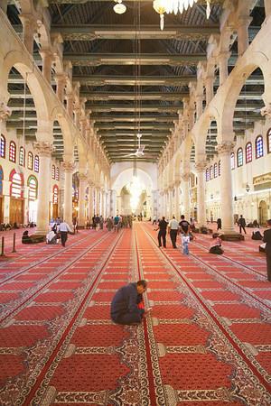 Umayyad Mosque, Damascus. Interior.