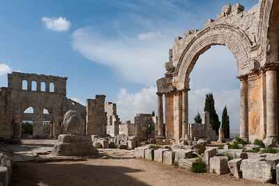 St Simeon Stylites: with small remains of 20 m pillar he lived on for 42 years