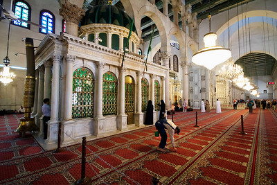 Umayyad Mosque, Damascus. The shrine to the John the Baptist said to contain his head - as demanded by Salome.