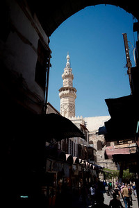 Umayyad Mosque, Damascus from the souq.