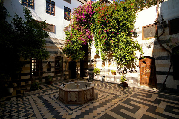 Courtyard of old house, Damascus