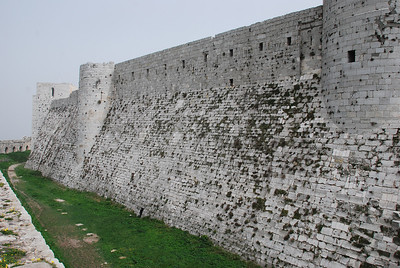 From the outer ring of battlements over what was the moat to the inner ring.