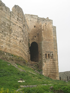 Tower at Krak de Chevaliers.  This exit was originally used so troops could get to the outer walls.