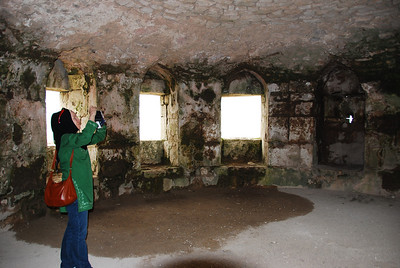 Inside one of the castle's towers.