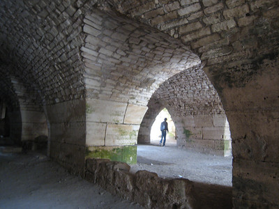 A huge vaulted room that once housed kitchens, storage and accommodation for the garrison that, at its peak, numbered 2,000 soldiers.