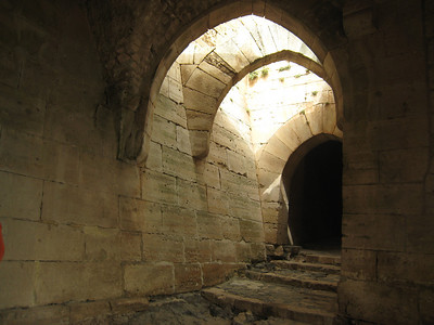 Corridor inside the castle - this place was built to last.