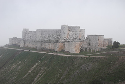 Krak de Chevaliers.  Just wow!  The inner castle was originally built in 1031 by the Emir of Homs.  The Crusaders reached here in 1099 but it wasn't until 1170 that the massive expansion began under the Hospitallers.  In 1188 Saladin had a crack at the castle (if you'll pardon the pun) but withdrew after only a couple of days. At its peak the castle was home to a garrison of 2,000 soldiers.
