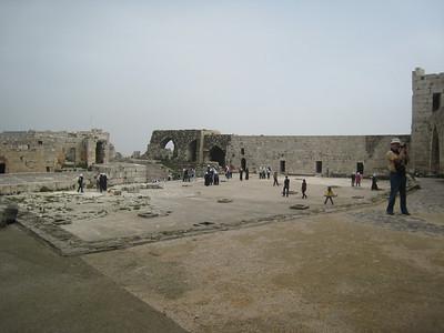 The upper courtyard.