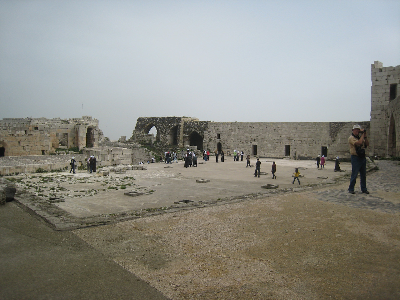 The upper courtyard.