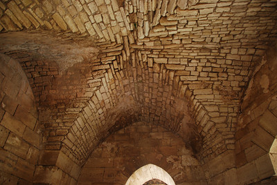 The roof in the entrance to the castle.