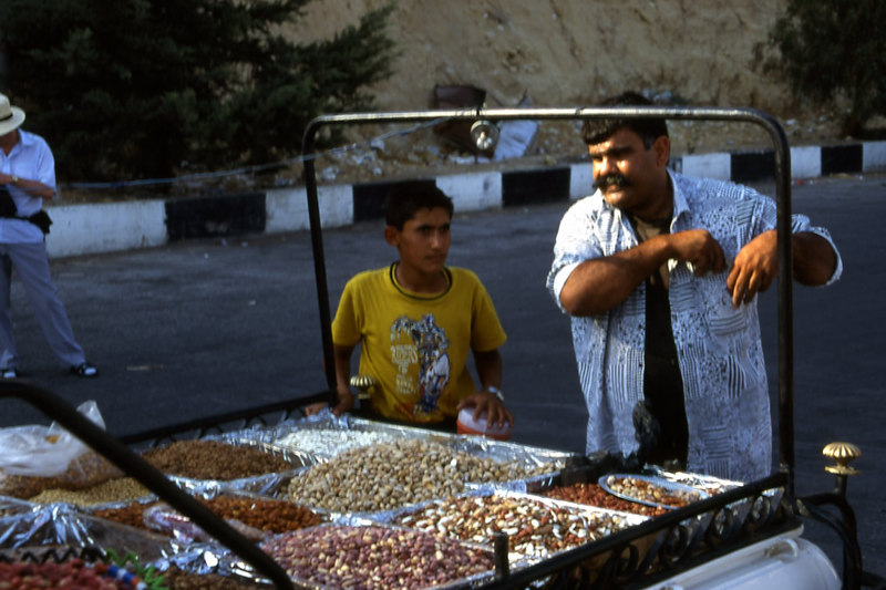 Pistachio sellers in Damascus, Syria.