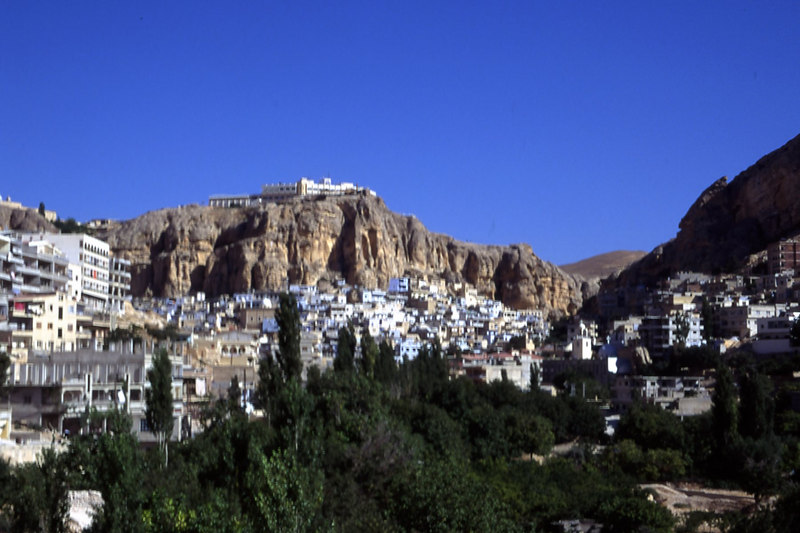Maaloula Village with St. Gergious Monastery in Syria.