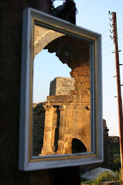 Reflected ruins, Bosra
