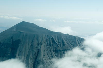 Landscape from plane, Volcano