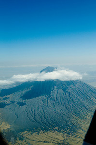 Landscape from plane, Volcano