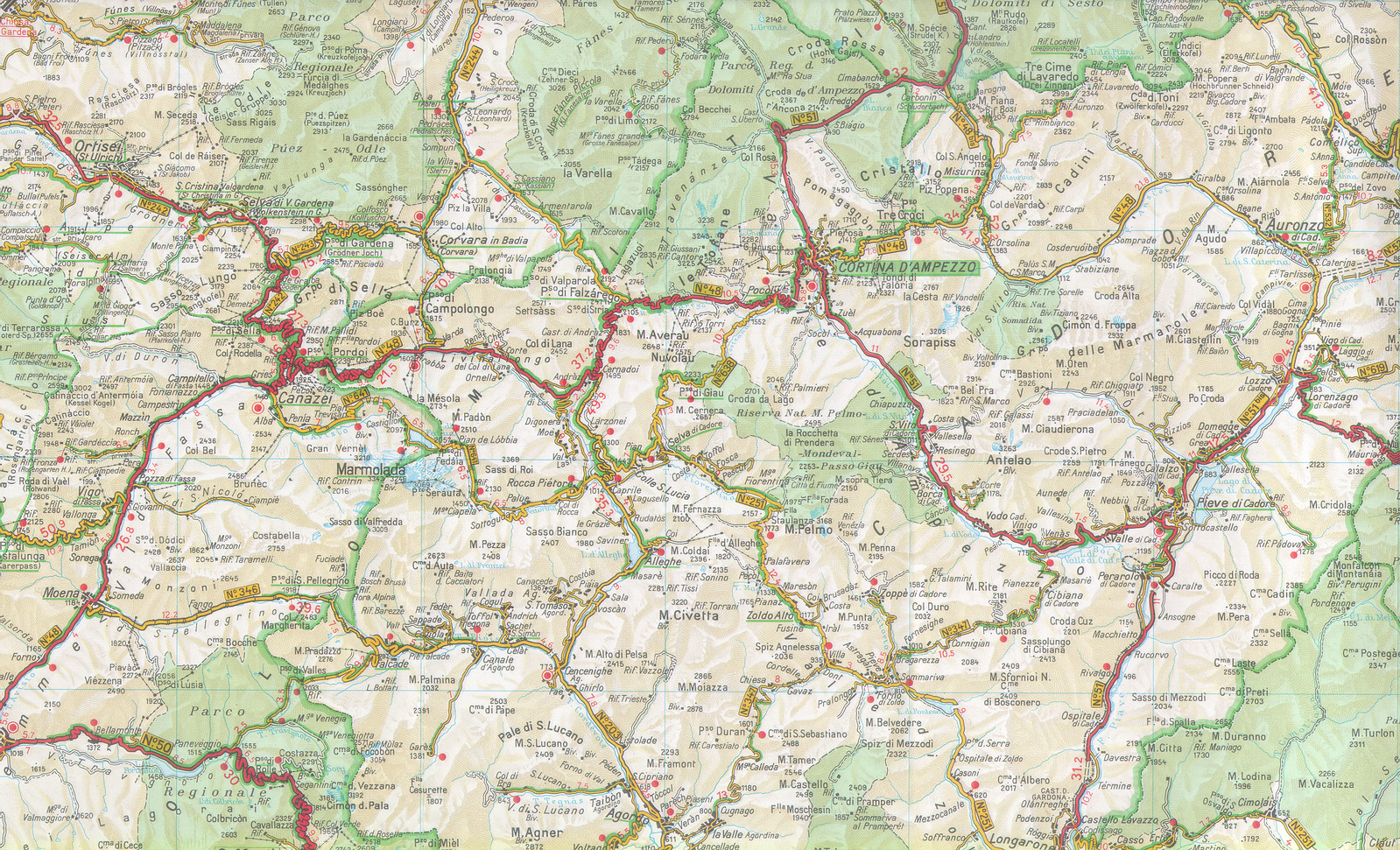 Maps of Alps SwissItalian and French  Adventure Rider