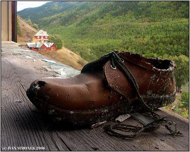 """RETURN TO THE PAST"", Telegraph Creek, B.C., Canada-----""NAVRAT DO MINULOSTI""."