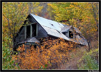 """ABANDONED "",Telegraph Creek, B.C.,Canada.-----""OPUSTEN "",Telegraph Creek, B.K.,Kanada."