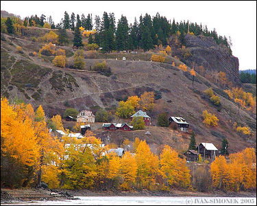 """WHERE TIME STANDS STILL"",Telegraph Creek, B.C.,Canada is a ghost town.-----""KDE SE CAS ZASTAVIL"", Telegraph Creek, B.K.,Kanada je mesto duchu."