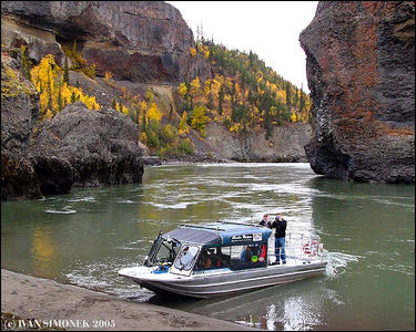 "'""A RARE OPPORTUNITY"", very few people had the chance to walk inside Grand Canyon of Stikine,B.C.,Canada.The boat is  Chutine Warrior/Alaska Waters,Inc.,captain Jim Leslie.-----""RIDKA PRILEZITOST"",velmi malo lidi melo sanci projit se uvnitr kanonu reky Stikine,B.K.,Kanada.Clun je Chutine Warrior/Alaska Waters,Inc.,kapitan Jim Leslie."