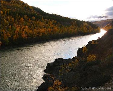 """""""LIKE SILVER"""", Stikine river,B.C.,Canada-----""""JAKO STRIBRO"""", reka Stikine, B.K.,Kanada."""