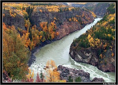 """FALL IN THE GRAND CANYON OF STIKINE"",B.C.,Canada.-----""PODZIM V KANONU STIKINE"",B.K.,Kanada."