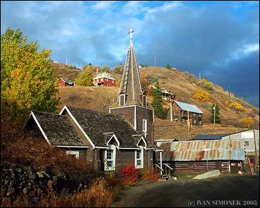 """TELEGRAPH CREEK"", a ghost town,B.C.,Canada.-----""TELEGRAPH CREEK"", mesto duchu, B.K.,Kanada."
