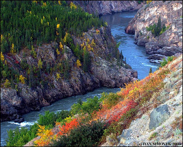 """CANYON COLORS"",Stikine river,B.C.,Canada-----""BARVY KANONU"", reka Stikine,B.K.,Kanada."