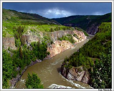 """BEFORE THUNDERSTORM"", Grand Canyon of Stikine,B.C.,Canada.-----""PRED BOURKOU"", Velky kanon Stikine, B.K., Kanada."