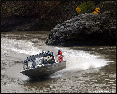 """A CANYON RIDE"", Alaska Water`s Chutine Warrior in the Grand Canyon of Stikine, B.C., Canada-----""PROJIZDKA  KANONEM""."