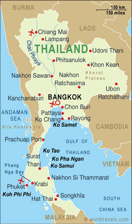 Our trip starts in Bangkok, Thailand, where we tour the waterways and local flower markets.