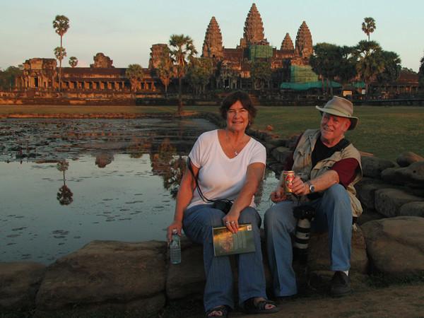 Judi & Harry at Angkor Wat