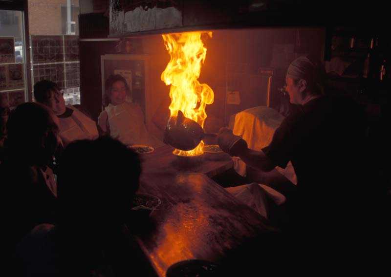 FLAMING RAMEN NOODLES IN KYOTO