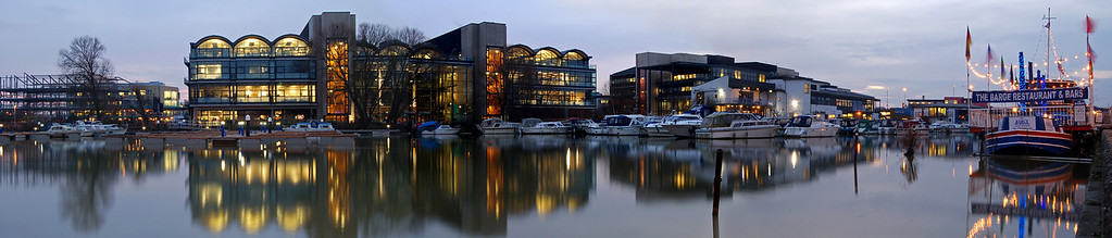 A 3 shot panorama looking across Brayford Pool